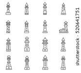 lighthouses icons set. sea...   Shutterstock .eps vector #520641751