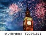 explosive fireworks display... | Shutterstock . vector #520641811