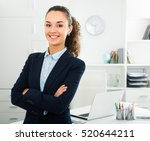 smiling young business lady... | Shutterstock . vector #520644211