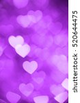 Purple Heart Bokeh Background...
