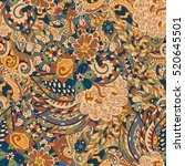 tracery seamless calming... | Shutterstock . vector #520645501