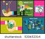 travel and adventure template ... | Shutterstock .eps vector #520652314
