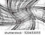 grid distress wavy overlay... | Shutterstock .eps vector #520653055