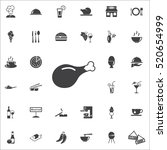 chicken leg icon on the white... | Shutterstock .eps vector #520654999