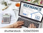 mortgage house loan website... | Shutterstock . vector #520655044