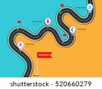 road trip and journey route.... | Shutterstock . vector #520660279