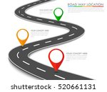 road way location infographic... | Shutterstock . vector #520661131