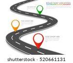road way location infographic...   Shutterstock . vector #520661131