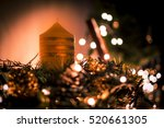 candle with little lights... | Shutterstock . vector #520661305