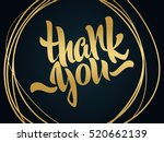 thank you lettering. hand... | Shutterstock .eps vector #520662139