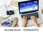 hotel deal accommodation lodge... | Shutterstock . vector #520663291