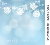 christmas card  invitation.... | Shutterstock .eps vector #520667281