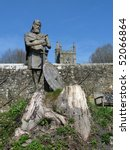 Small photo of Alfred the GReat, Shaftsbury Abbey garden