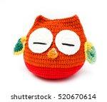 Stock photo owl doll on white background 520670614