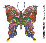 bright butterfly isolated on... | Shutterstock .eps vector #520672321