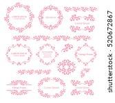 floral design elements set ... | Shutterstock .eps vector #520672867