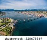 bridge of city tromso  norway... | Shutterstock . vector #520679569