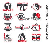 fight club bages vector set. | Shutterstock .eps vector #520680355