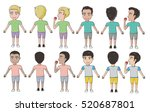 vector of multicultural boys in ...   Shutterstock .eps vector #520687801