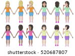 vector of multicultural womans... | Shutterstock .eps vector #520687807