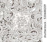 cartoon cute doodles hand drawn ... | Shutterstock .eps vector #520688209