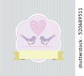 colored wedding  valentine... | Shutterstock . vector #520689511
