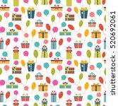birthday background. seamless...   Shutterstock .eps vector #520692061
