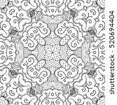 tracery seamless calming... | Shutterstock . vector #520694404