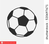football icon. one of set web... | Shutterstock .eps vector #520697671