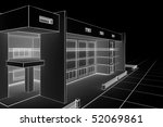 3d illustration of a modern... | Shutterstock . vector #52069861