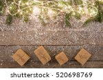 christmas lights and... | Shutterstock . vector #520698769
