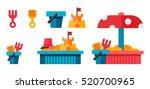 illustration of a sandbox with... | Shutterstock . vector #520700965
