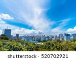singapore city in forrest with... | Shutterstock . vector #520702921