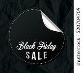 sticker of black friday. chrome ... | Shutterstock .eps vector #520704709