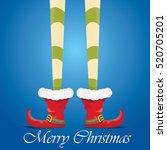 vector creative merry christmas ...   Shutterstock .eps vector #520705201