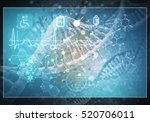 media medicine background image ... | Shutterstock . vector #520706011