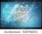 media medicine background image ... | Shutterstock . vector #520706011
