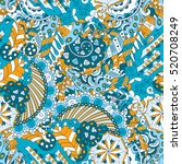 tracery seamless calming... | Shutterstock . vector #520708249