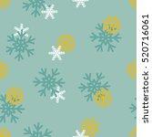 vector seamless winter pattern...   Shutterstock .eps vector #520716061
