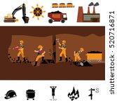 coal industry horizontal...   Shutterstock .eps vector #520716871