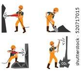 coal industry horizontal... | Shutterstock .eps vector #520717015