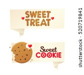 two banners confectionery.... | Shutterstock .eps vector #520719841