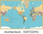 retro color america centered... | Shutterstock .eps vector #520722451