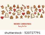 christmas card or invitation... | Shutterstock .eps vector #520727791