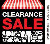 clearance sale background   Shutterstock .eps vector #520733581