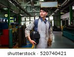 welder man in factory | Shutterstock . vector #520740421