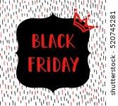 black friday sale poster on... | Shutterstock .eps vector #520745281