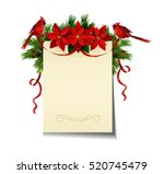 christmas background with tree | Shutterstock .eps vector #520745479
