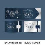 gift certificate design | Shutterstock .eps vector #520746985