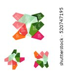 abstract paper geometric... | Shutterstock .eps vector #520747195